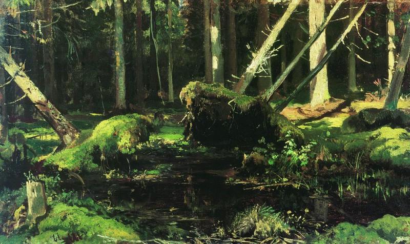 deadfall 1886-1887. Ivan Ivanovich Shishkin