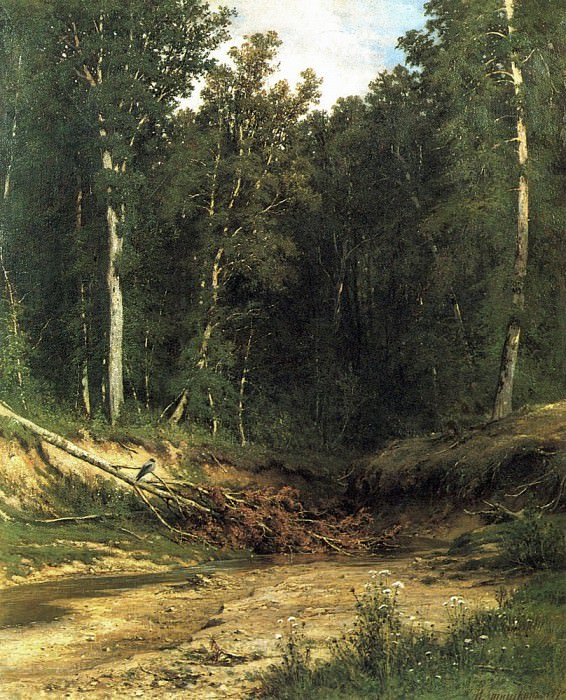 Forest Brook (Chernolese). 1874 74, 5h61. Ivan Ivanovich Shishkin