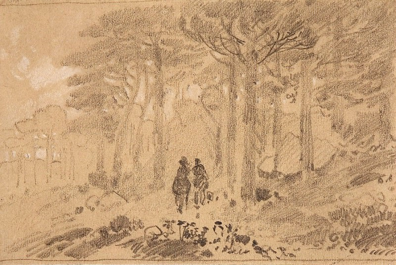 Two in the woods. Late 1880 - early 1890s, 9, 8h14, 7. Ivan Ivanovich Shishkin