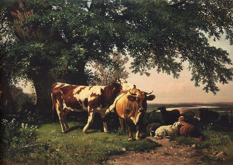 herd under derevyami186472. 4h104. Ivan Ivanovich Shishkin