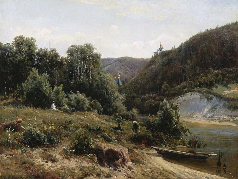 The Monastery 1870. Ivan Ivanovich Shishkin