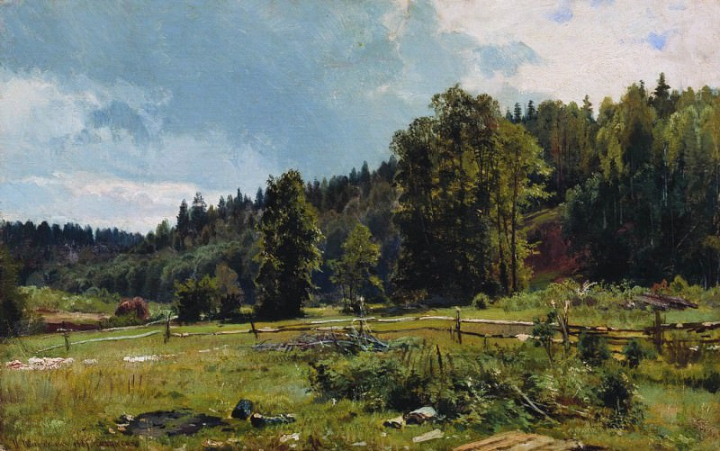 meadow at the edge of the forest. Siverskaya. 1887 33, 5h53, 5. Ivan Ivanovich Shishkin