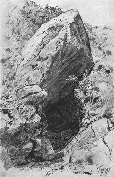 Пещера в Гурзуфе. 1879 45х29. Иван Иванович Шишкин
