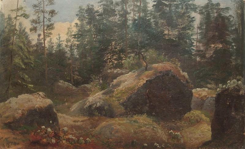 Boulders in the woods. Ivan Ivanovich Shishkin