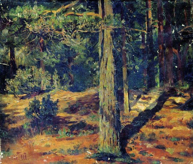 Летний пейзаж 1867. Иван Иванович Шишкин