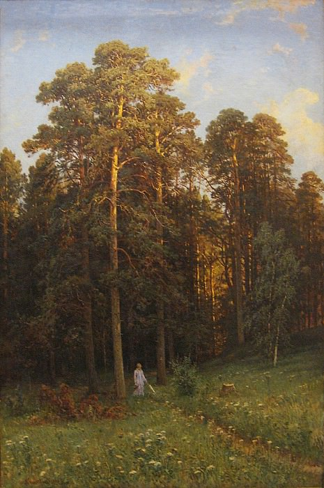 On the edge of a pine forest in 1882. Ivan Ivanovich Shishkin