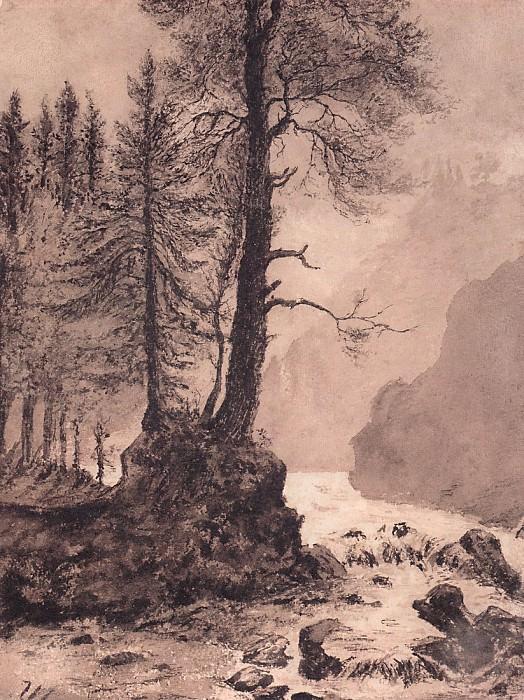 Mountain river. 1886 35, 3h26. 6. Ivan Ivanovich Shishkin