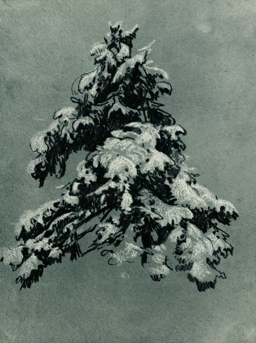 Scots under snow 1890 20, 5x15, 5. Ivan Ivanovich Shishkin