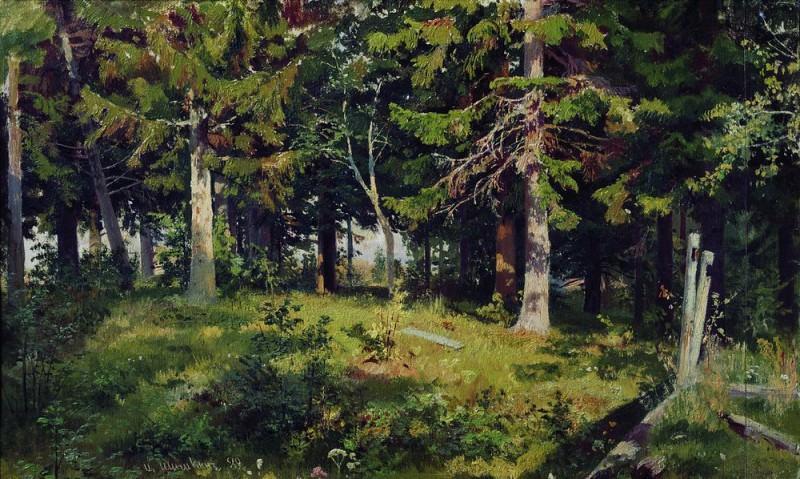 Glade 1889 38h62. Ivan Ivanovich Shishkin