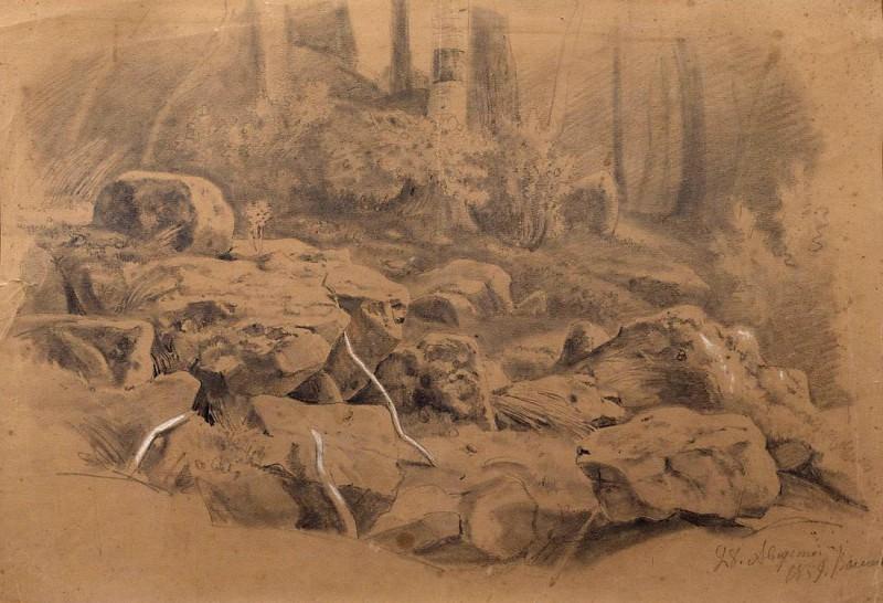 Stones. 1859. Ivan Ivanovich Shishkin