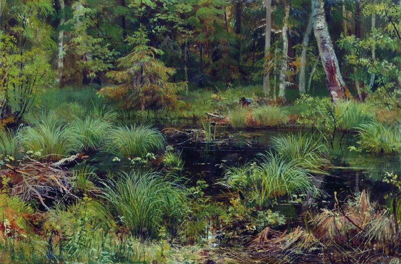 Spring in the woods 1892 38h56. Ivan Ivanovich Shishkin