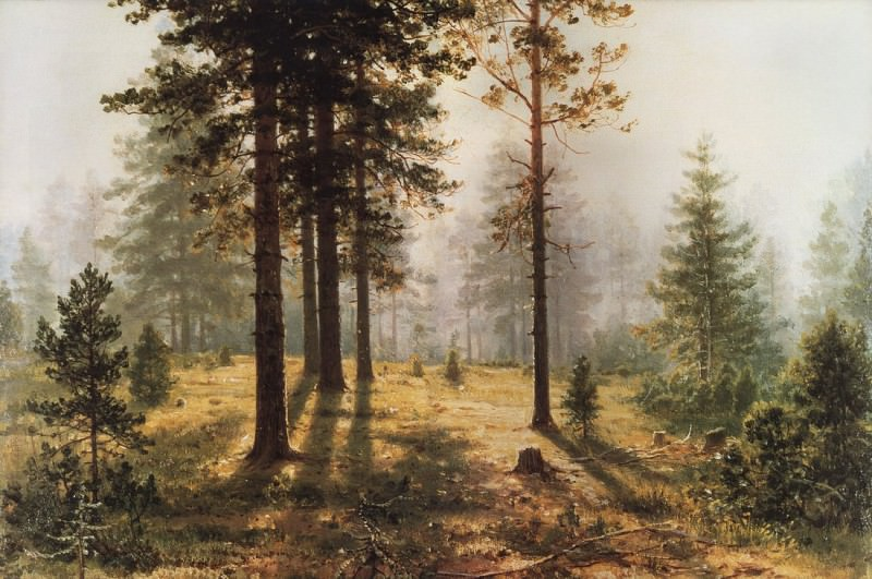 Fog in the forest. 1890 27h34. Ivan Ivanovich Shishkin
