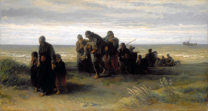 Jozef Israels - Fishermen carrying a Drowned Man. Part 4 National Gallery UK