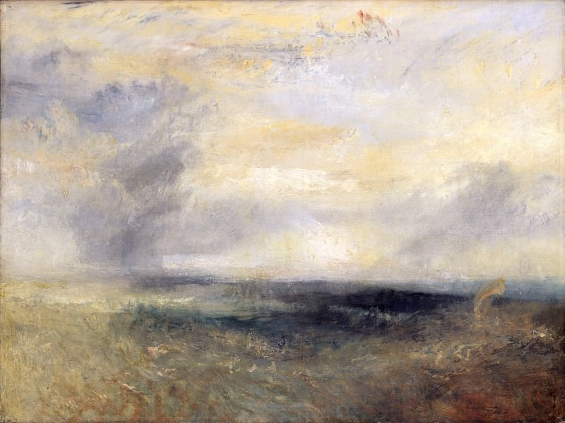 Joseph Mallord William Turner - Margate, from the Sea. Part 4 National Gallery UK