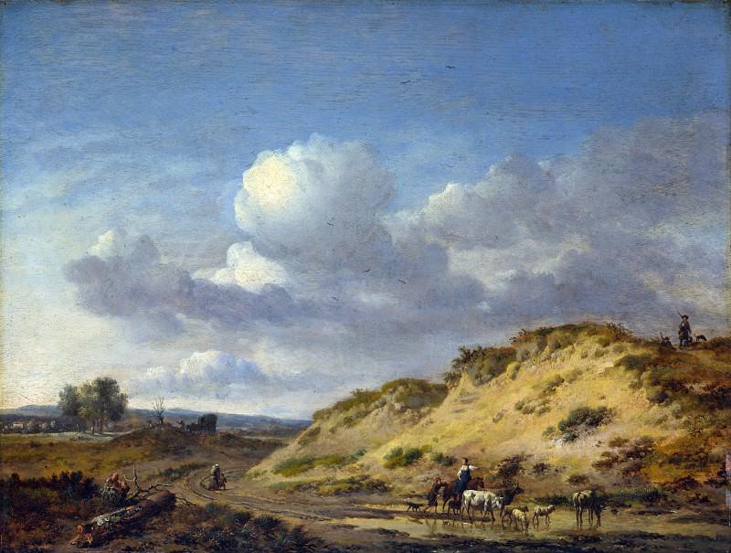 Ян Вейнантс - Пейзаж с пастухами, ведущими коров и овец. Часть 4 Национальная галерея