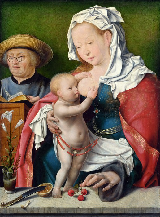 Joos van Cleve - The Holy Family. Part 4 National Gallery UK