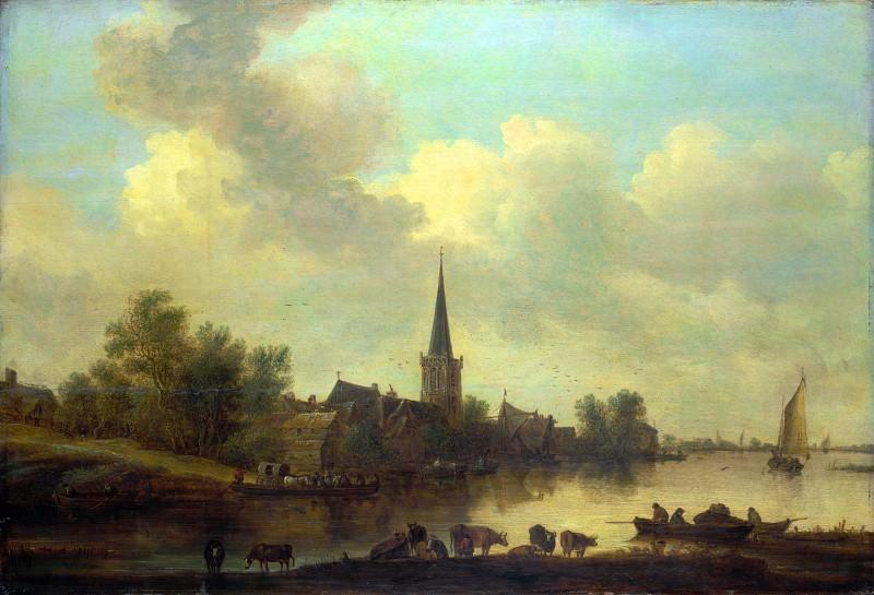 Ян ван Гойен - Речной пейзаж. Часть 4 Национальная галерея