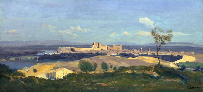 Jean-Baptiste Camille Corot - Avignon from the West. Part 4 National Gallery UK