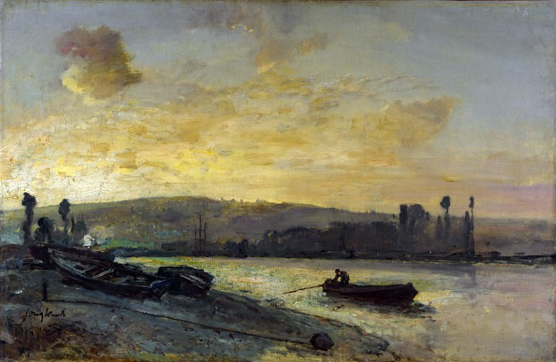 Johan Barthold Jongkind - River Scene. Part 4 National Gallery UK