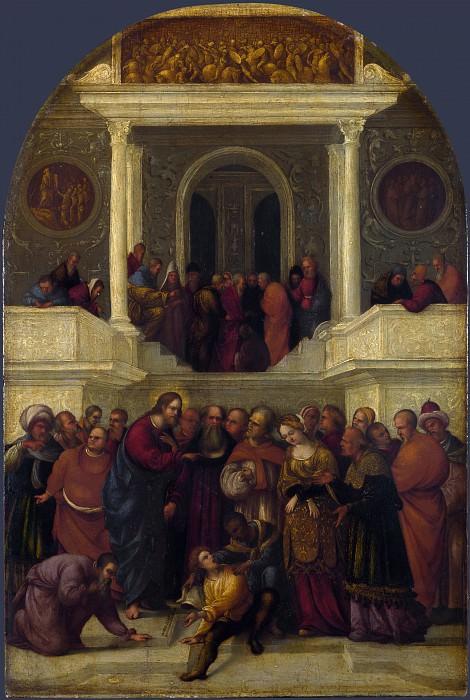 Лодовико Маццолино - Христос и прелюбодейка. Часть 4 Национальная галерея
