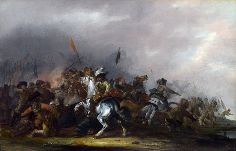 Jacob Weier - Cavalry attacked by Infantry. Part 4 National Gallery UK