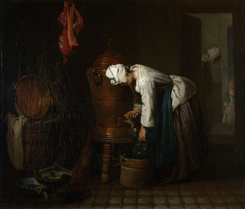Jean-Simeon Chardin - La Fontaine (The Water Cistern). Part 4 National Gallery UK