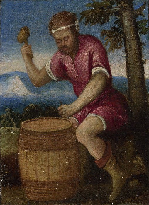 Italian, Venetian - The Labours of the Months - April. Part 4 National Gallery UK