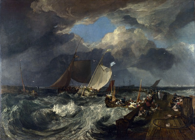 Joseph Mallord William Turner - Calais Pier. Part 4 National Gallery UK
