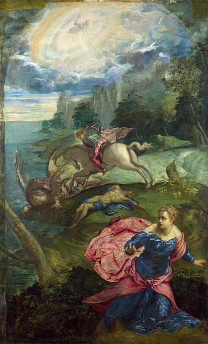 Якопо Тинторетто - Святой Георгий и дракон. Часть 4 Национальная галерея