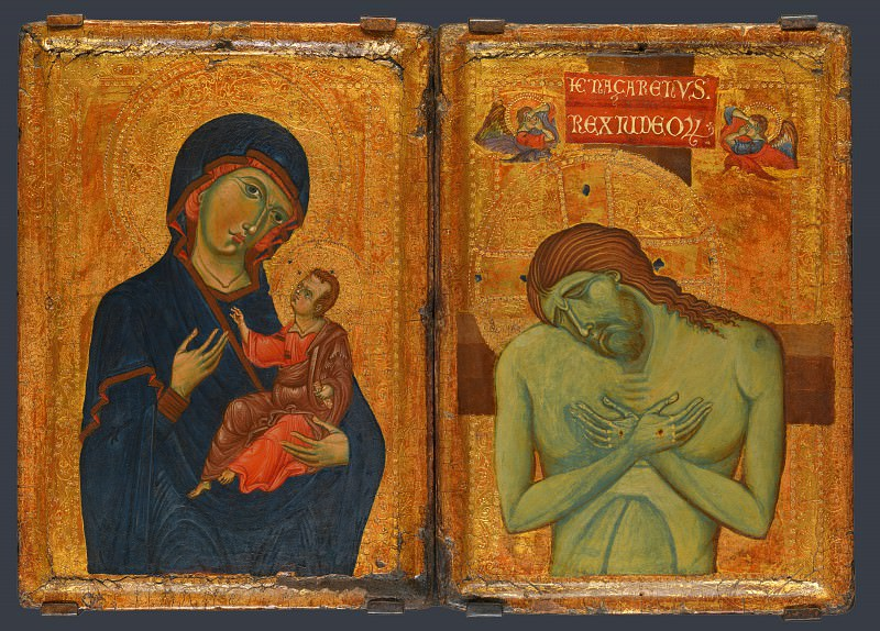 Italian, Umbrian - Umbrian Diptych. Part 4 National Gallery UK