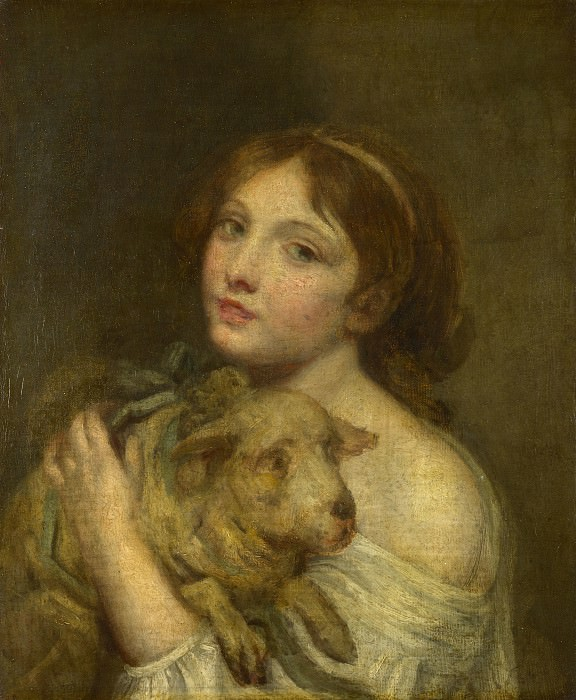 Jean-Baptiste Greuze - A Girl with a Lamb. Part 4 National Gallery UK