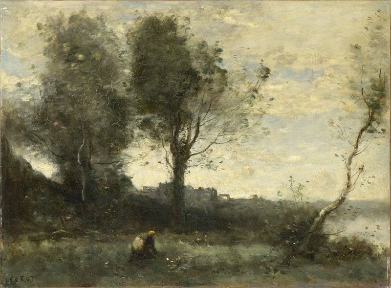 Jean-Baptiste Camille Corot - The Wood Gatherer. Part 4 National Gallery UK