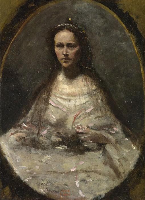 Жан-Батист-Камиль Коро - Этюд: Женщина в свадебном платье. Часть 4 Национальная галерея