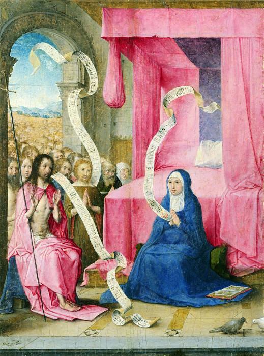 Juan de Flandes - Christ appearing to the Virgin. Part 4 National Gallery UK