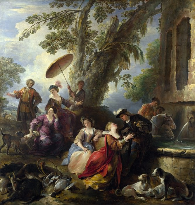 Joseph Parrocel - The Return from the Hunt. Part 4 National Gallery UK