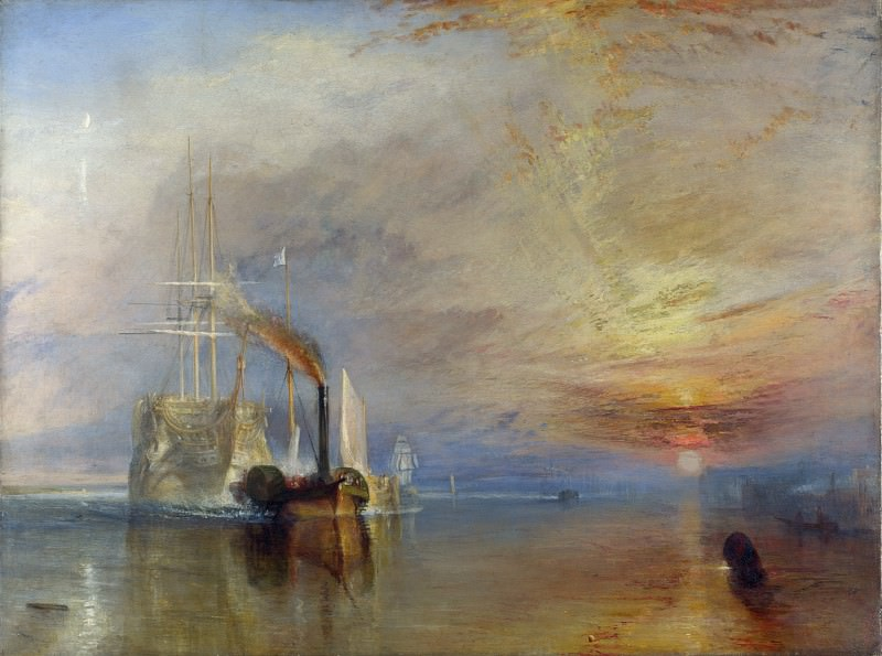 Joseph Mallord William Turner - The Fighting Temeraire. Part 4 National Gallery UK