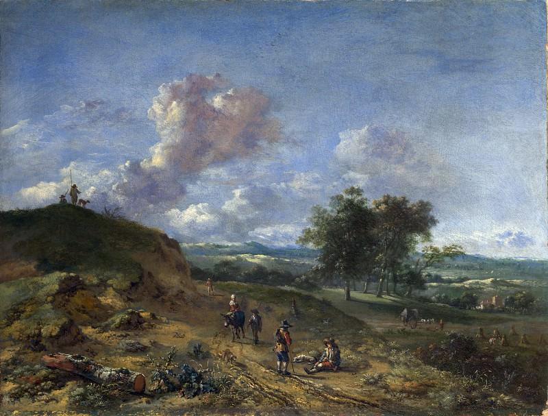 Ян Вейнантс - Пейзаж с высокой дюной и крестьянами на дороге. Часть 4 Национальная галерея