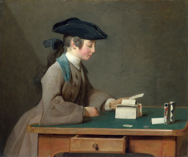 Jean-Simeon Chardin - The House of Cards. Part 4 National Gallery UK