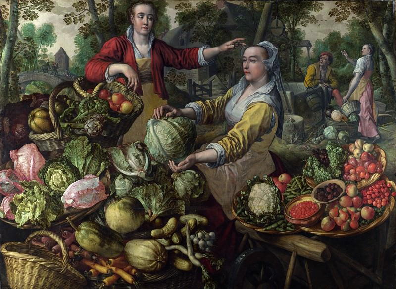 Joachim Beuckelaer - The Four Elements - Earth. Part 4 National Gallery UK