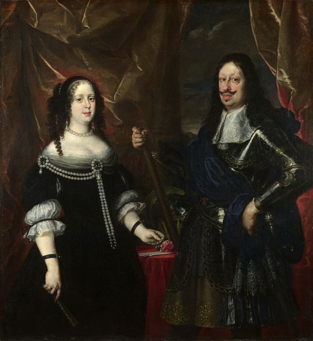 Justus Sustermans - The Grand Duke Ferdinand II of Tuscany and his Wife. Part 4 National Gallery UK