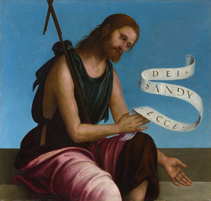 Лоренцо Коста - Алтарь из молельни церкви св Петра в Винколи - Иоанн Креститель. Часть 4 Национальная галерея