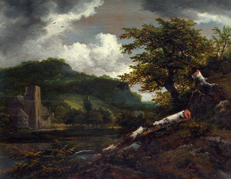 Jacob van Ruisdael - A Landscape with a Ruined Building. Part 4 National Gallery UK