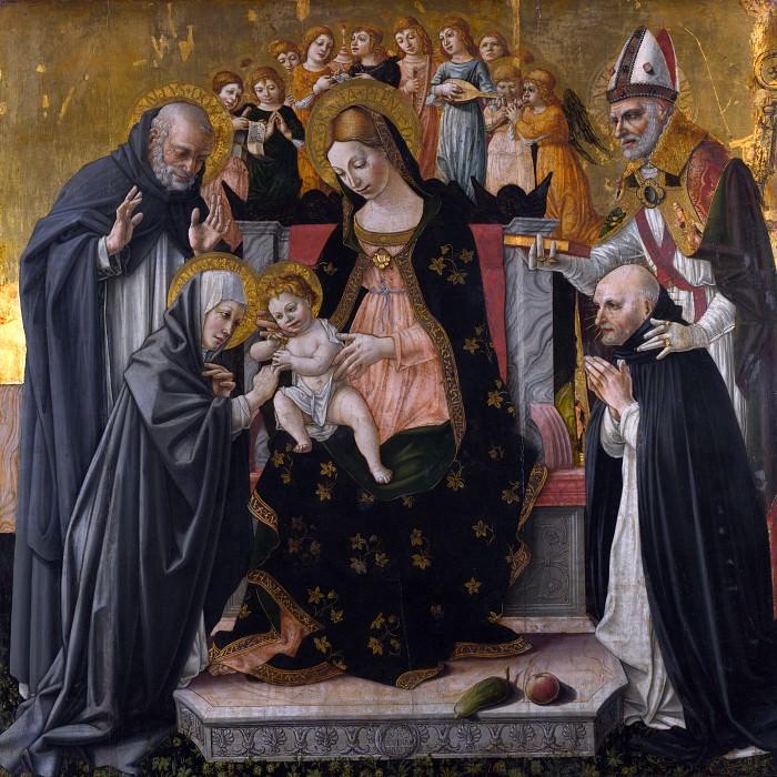 Лоренцо д Алессандро да Сансеверино - Мистическое обручение святой Екатерины Сиенской. Часть 4 Национальная галерея