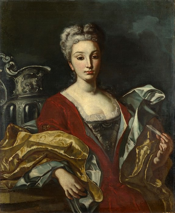 Italian, Neapolitan - Portrait of a Lady. Part 4 National Gallery UK