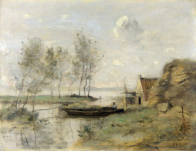Jean-Baptiste Camille Corot - Souvenir of Palluel. Part 4 National Gallery UK