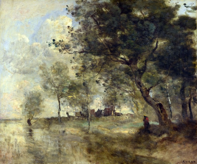 Jean-Baptiste Camille Corot - A Flood. Part 4 National Gallery UK