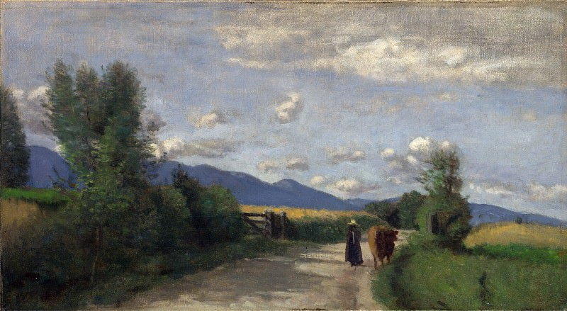 Jean-Baptiste Camille Corot - Dardagny, Morning. Part 4 National Gallery UK