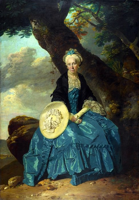 Johann Zoffany - Mrs Oswald. Part 4 National Gallery UK