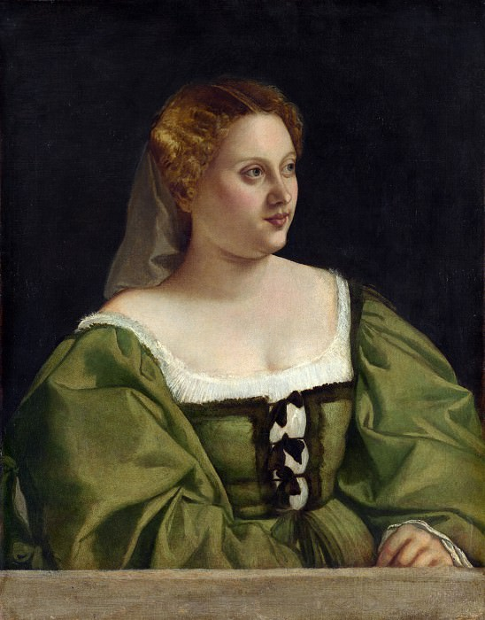 Italian, Venetian - Portrait of a Lady. Part 4 National Gallery UK