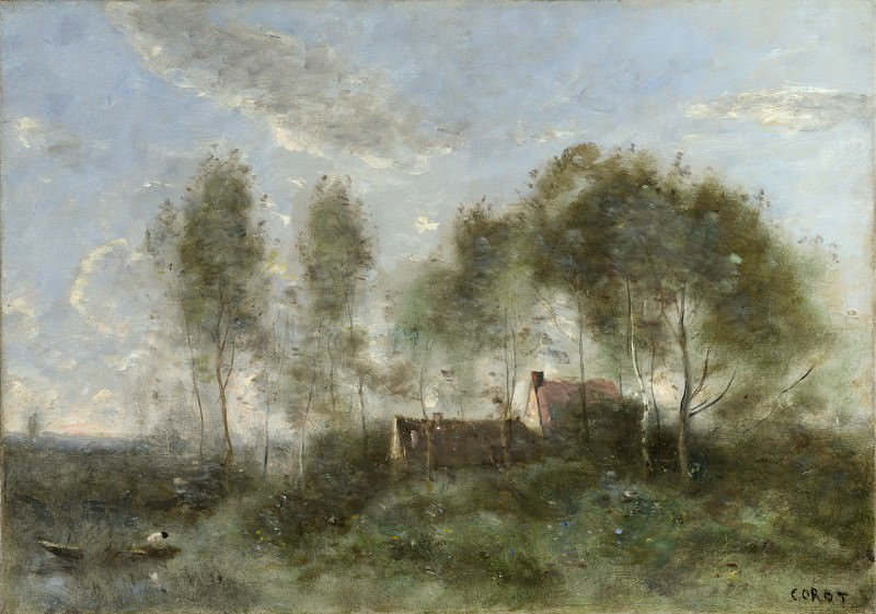 Jean-Baptiste Camille Corot - Souvenir of a Journey to Coubron. Part 4 National Gallery UK